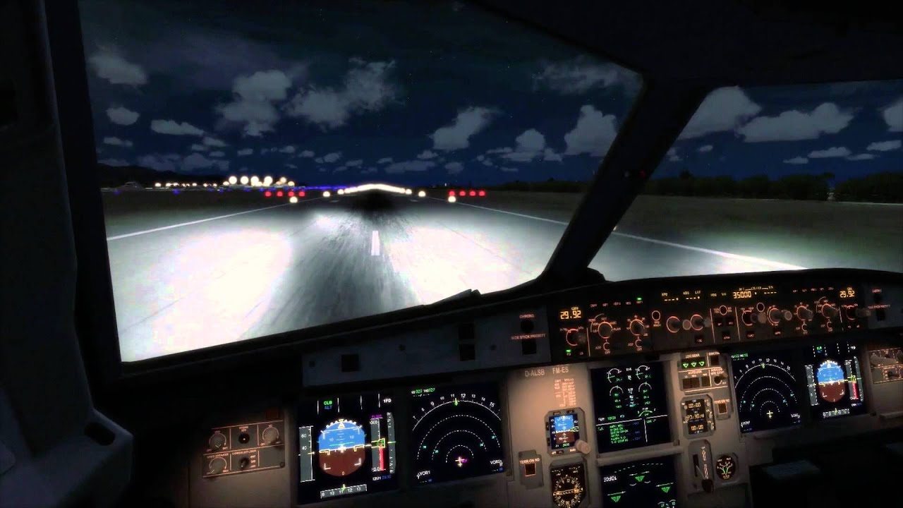 A380 Wallpaper Hd Fsx Airbus A321 Night Takeoff Cockpit Youtube
