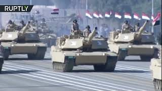 Iraqi military take part in spectacular parade celebrating victory over ISIS