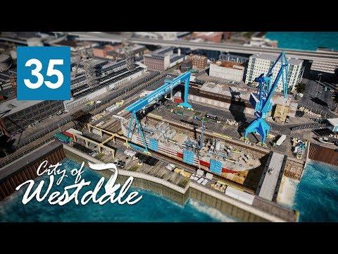 Cities Skylines: Super Detailed Repairing Dry Dock -  Westdale EP35