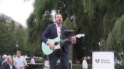 Rasmus Taxell sjunger Fädernesland på AfS valfinal i Kungsträdgården 7 september 2018