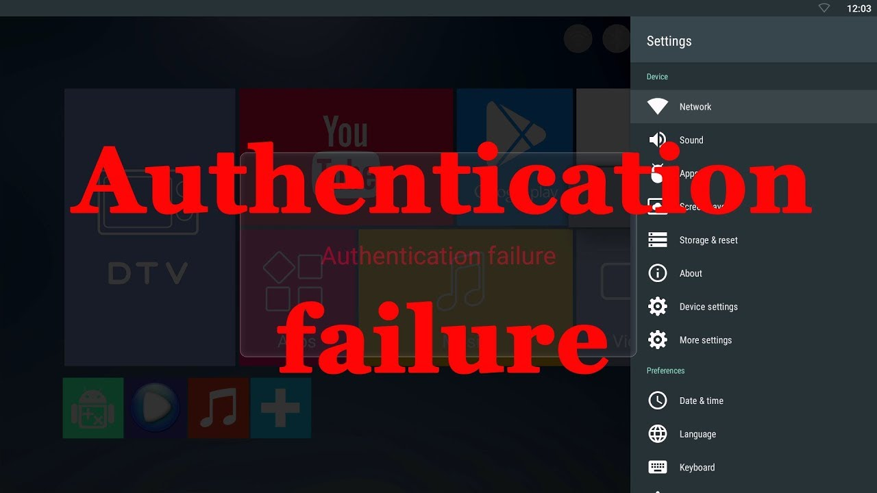 How to fix your android tv box Authentication failure problem by burning  MAC address