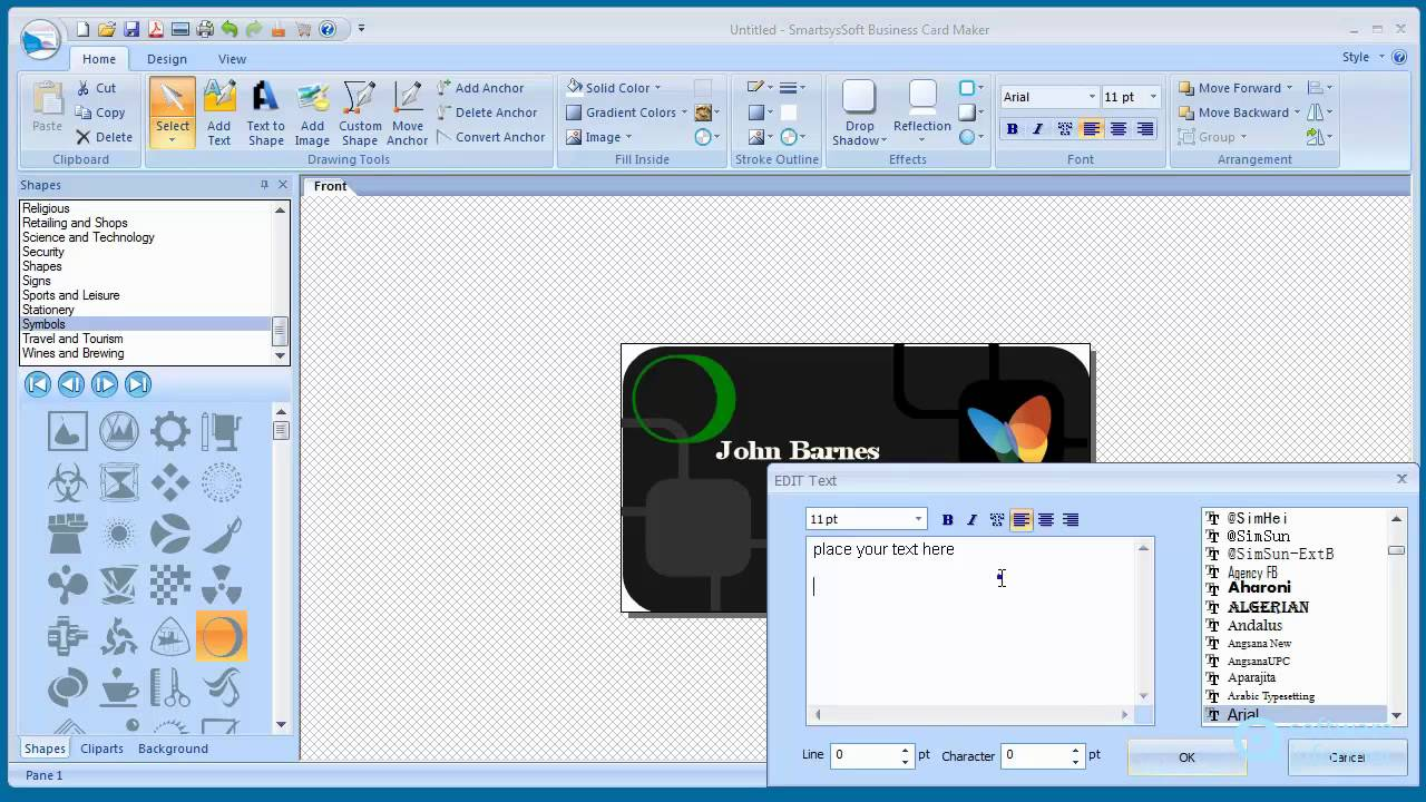 A quick look at SmartsysSoft Business Card Maker - YouTube