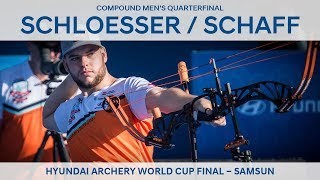 Mike Schloesser v Kris Schaff – compound men's quarterfinal | Samsun 2018
