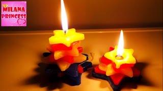 Делаем свечку своими руками, развивающие видео для детей. Как сделать свечу?