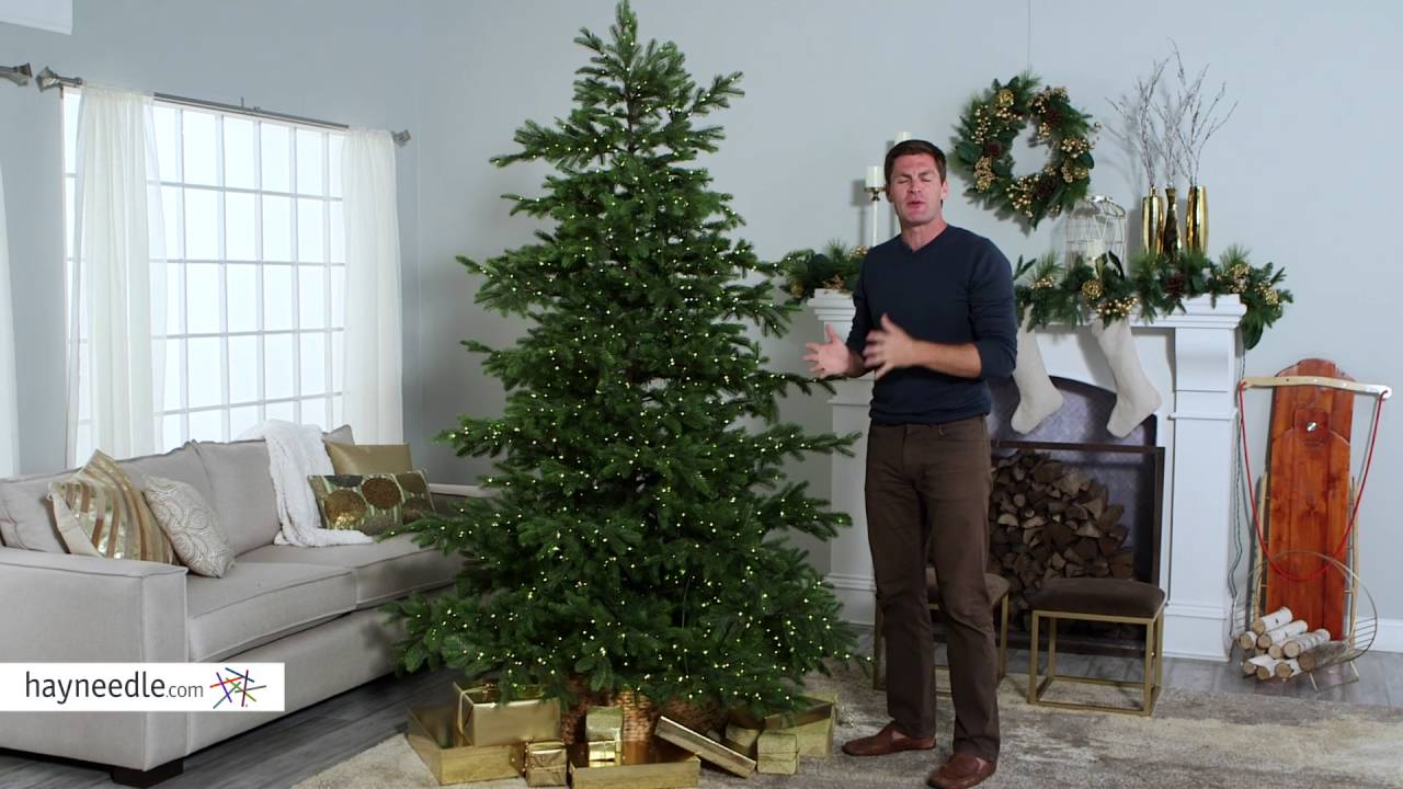 natural cut layered northern fir pre lit full christmas tree product review video