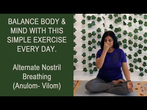 Anulom Vilom| Alternate Nostril Breathing| Pranayama for Hypertension/ Stress/ Anxiety/ MentalHealth
