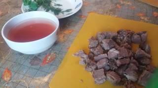 Блюдо из мяса,риса, картошки, моркови, капусты
