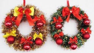 DIY Рождественские венки своими руками. Мастер класс. Christmas wreaths video tutorial(, 2014-11-25T13:12:37.000Z)