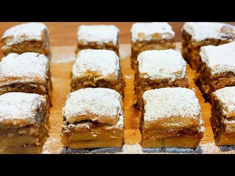 petits-gâteaux-qui-fondent-en-bouche-/-addictif-!-/-recette-facile-/-noix,-amandes-et-pommes-👍🔝
