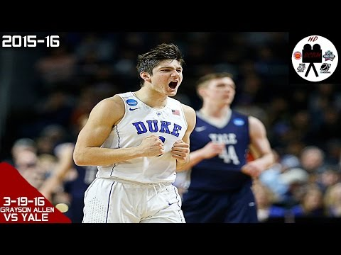 Grayson Allen Full Highlights vs Yale 2nd Rd (3-19-16) 29 Pts, 10-15 FGM!