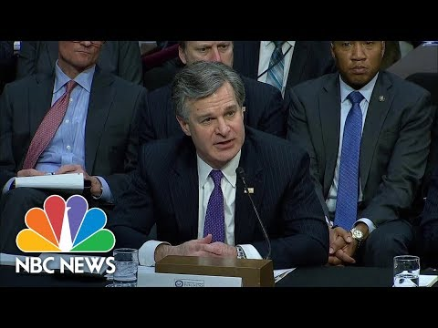 FBI Director Christopher Wray Contradicts White House On Rob Porter's Investigation | NBC News