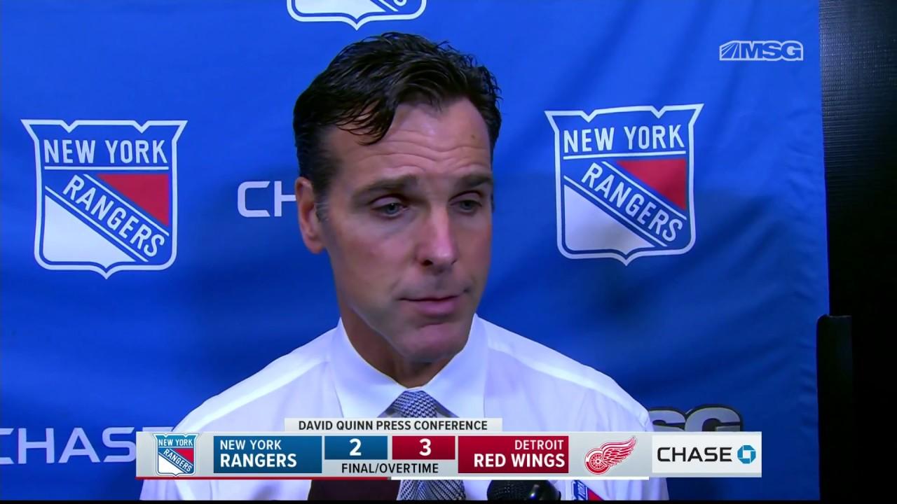 af6ab4f3 David Quinn: We Got What We Deserved | New York Rangers | MSG Networks
