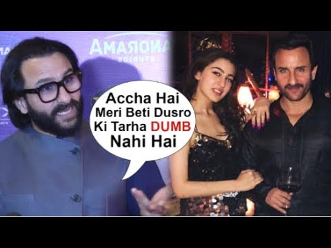Saif Ali Khan's REACTION On Fans PRAISE Daughter Sara Ali Khan For Being Smart & Intelligent