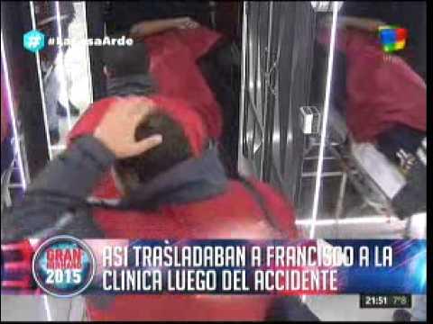 #GH2015: Así trasladaban a Francisco luego del accidente