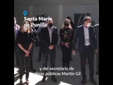 Caserio participó de la inauguración del Hospital Modular en Santa María
