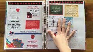 Using an Erin Condren Teacher Planner for Homeschooling - Kindergarten Homeschool Organization