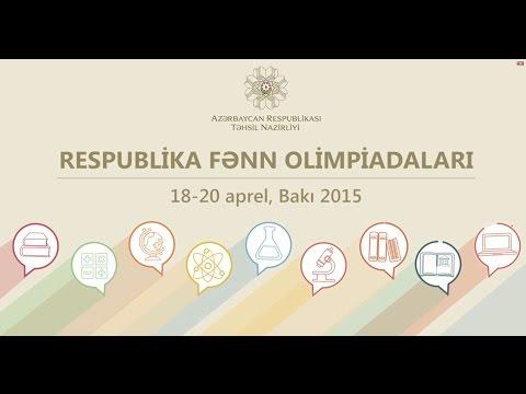 Respublika fənn olimpiadaları (18-20 Aprel 2015)