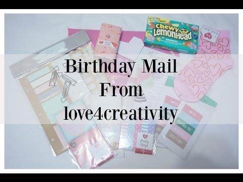 Birthday Mail from love4creativity! | AuroraCecilia
