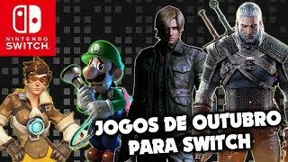 Outubro está INSANO de jogos para Nintendo Switch