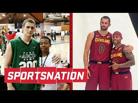 Kevin Love and Isaiah Thomas recreate old photo at Cavaliers Media Day | SportsNation | ESPN