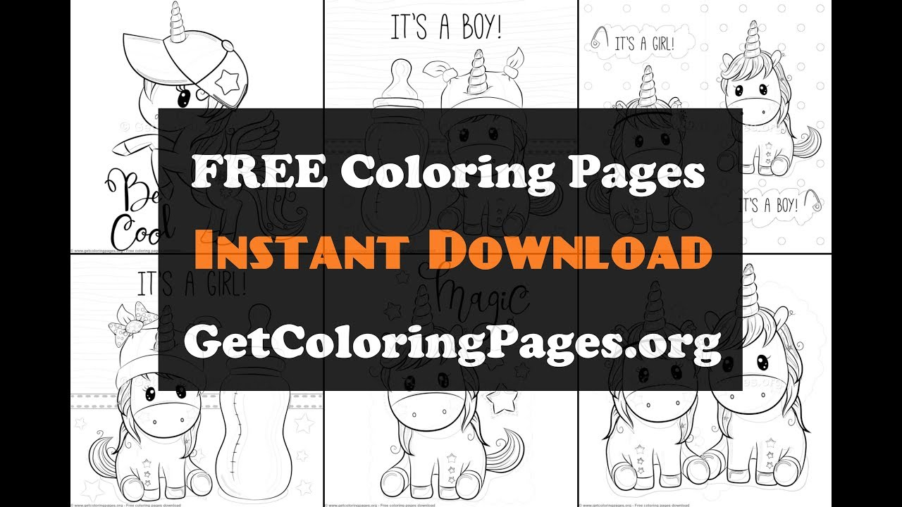 Unicorn coloring pages - YouTube