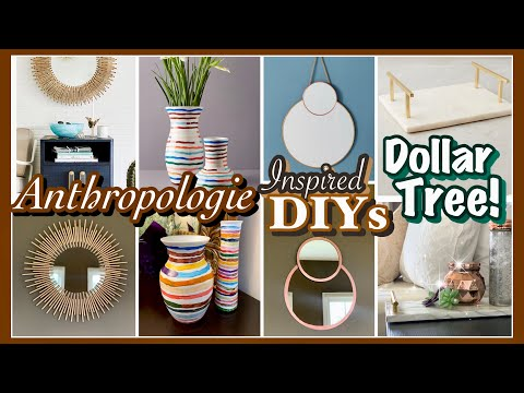 ANTHROPOLOGIE Inspired Dollar Tree DIY Decor