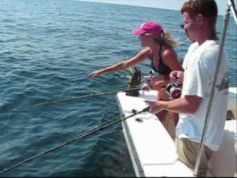Grouper Fishing With Grouper Therapy Fishing Charters, Cedar Key, Florida