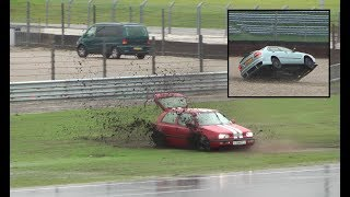 Crashes, Very Lucky Drivers, Slippery Action 10.11.2018 Vrij Rijden Assen
