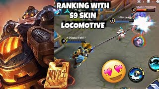 NEW SEASON RANKING WITH FRANCO LOCOMOTIVE S9 SKIN | WOLF XOTIC | MOBILE LEGENDS