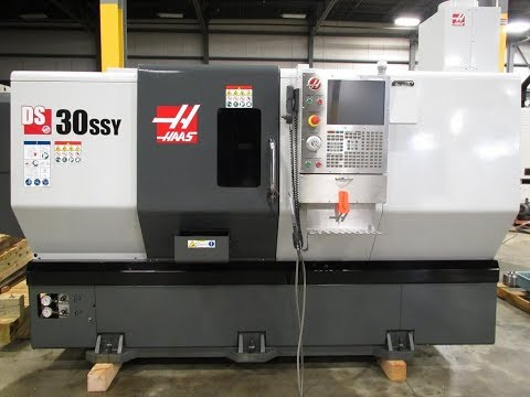 2017 Haas DS-30SSY Dual Spindle, Super Speed CNC Lathe With Live Tooling, Y-Axis, Barfeed