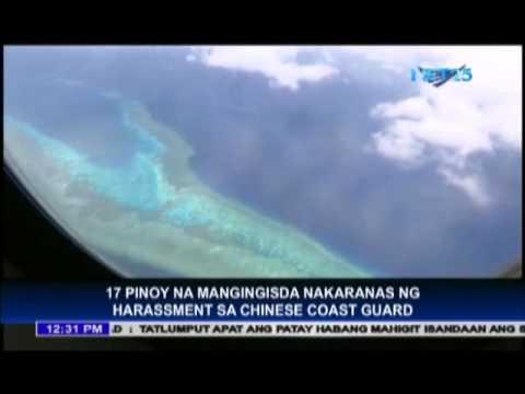 Chinese Coast Guard harasses Filipino fishermen