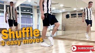 How to Shuffle Dance | TOP 3 EASY MOVES | Шафл Обучение | ТОП 3 легких движения | PROdance