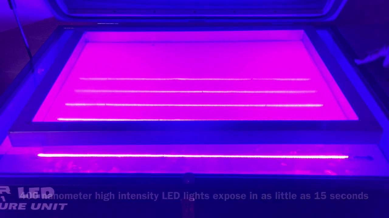 led uv light pro series screen printing exposure unit youtube