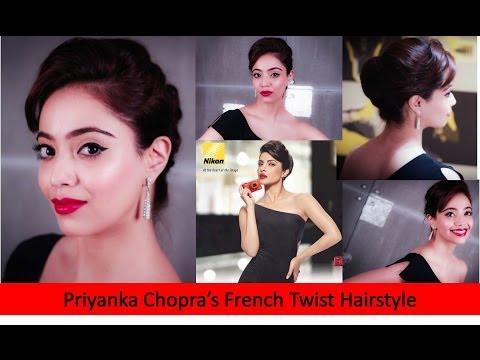 French Twist Hairstyle Inspired By Priyanka Chopra's Nikon Coolpix Ad (Hindi)
