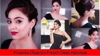French Twist Hairstyle Inspired By Priyanka Chopra