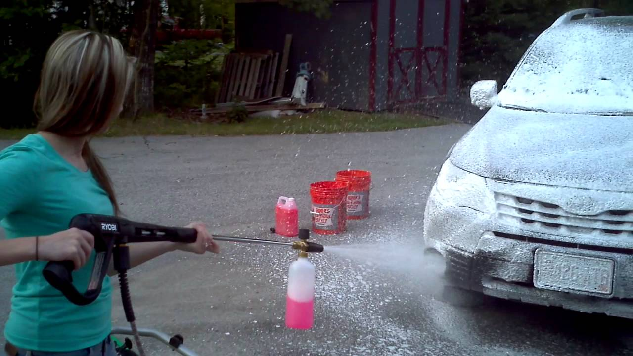 Mtm Foam Cannon With Ryobi 3100 Psi Pressure Washer