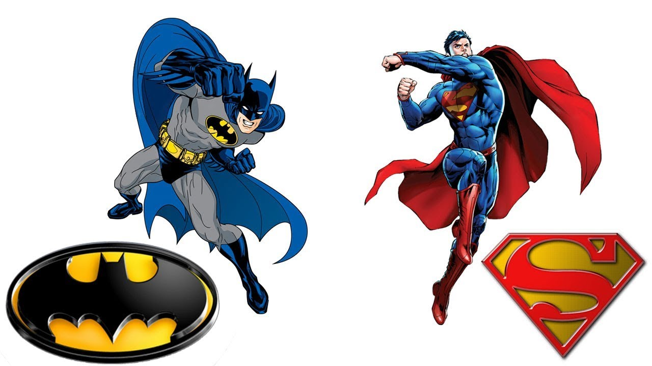 Batman coloring pages for kids / Superman coloring book for children ...