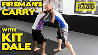 How to do a Fireman's Carry throw from the clinch w/ Kit Dale| No Gi BJJ & MMA