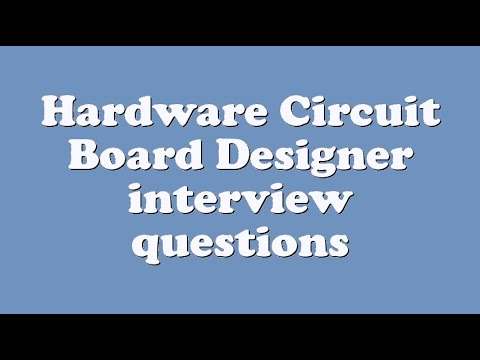 Hardware Circuit Board Designer interview questions - YouTube