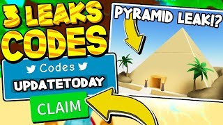 PYRAMID PARADISE LEAKS AND 3 CODES IN UNBOXING SIMULATOR! Roblox