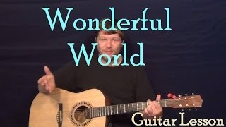 Wonderful World (Sam Cooke) Easy Guitar Lesson How to Play Tutorial