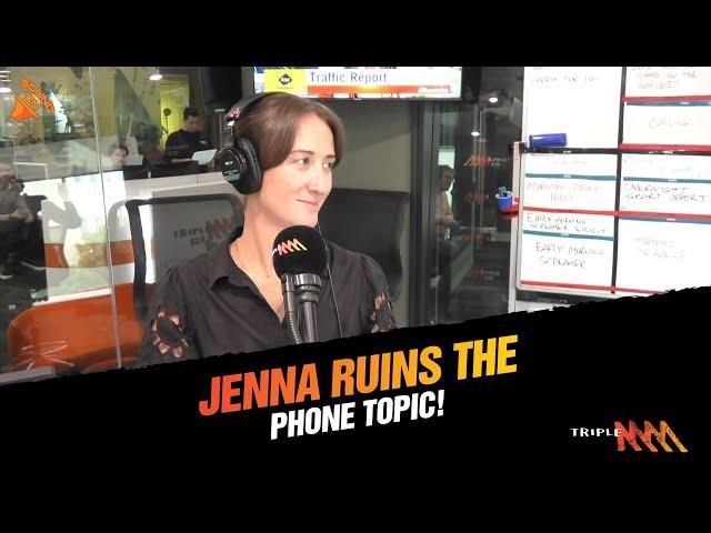 Jenna Ruins The Phone Topic 🤨   Triple M