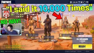 "She said ""Landon"" 10,000 times.. So I bought her Tier 100 Battle Pass! (Fortnite Battle Royale)"