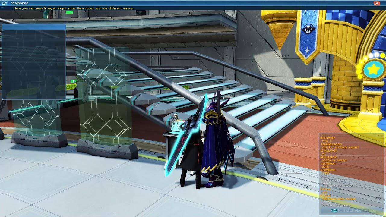【PSO2】affixing Lightstream Dimenxion & Atlas Farder Ex with MArk receptor