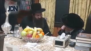 Sadigura Yerushalahyim Meets With Kretchnif Rebbe - Shvat 5781