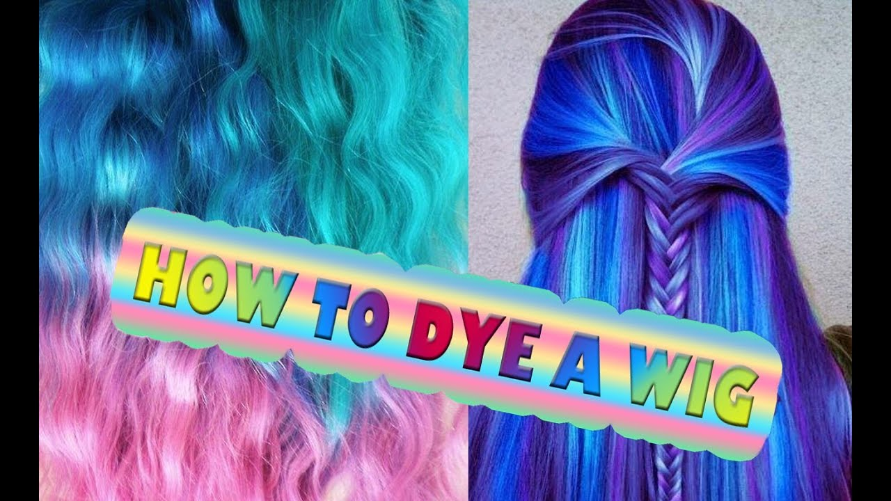 DYE Synthetic Hair wig dreads OMBRE Extension Cosplay - YouTube