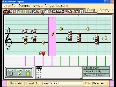 Crystal Gayle & Eddie Rabbit  Just You And I on mario paint composer