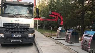 Yer altı çöp konteyneri Konutkent Çankaya Ankara