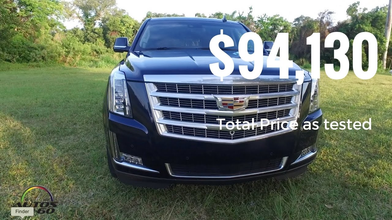 2017 Cadillac Escalade Premium Luxury Total Price As Tested 94 130
