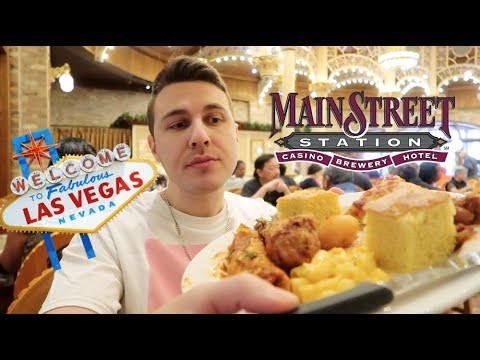 Trying A CHEAP BUFFET In LAS VEGAS $14.99 Worth It? Main Street Station